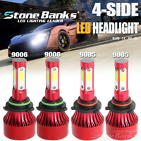 4Sides 9005+9006 LED Headlight Kit 6000K 144W 320000LM High+Low Beam Headlamp