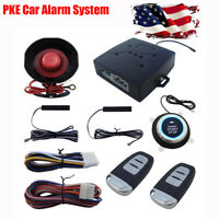 1 Set Car Alarm System with PKE-Passive Keyless Entry Remote Engine Start DC 12V