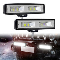 2x 6inch 48W LED Work Light Bar Flood Beam Car SUV ATV Offroad Driving Fog Lamps