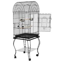 63'' Rolling Bird Cage Powder Coated Budgie Conure Lovebird Pet W/Stand