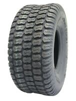 Deli Tire 15x6.00-6, Turf Tire 4 Ply, Tubeless, Garden Tractor Lawn Riding Mower