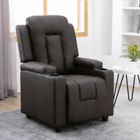 Leather Recliner Chair Padded Seat Sofa Living Room Reclining Chair Furniture US
