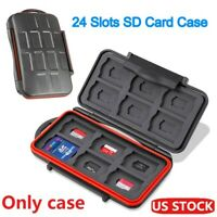 Micro SD Memory Card Storage Carrying Case Holder Wallet 24pcs Card Capacity US