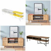 Modern Wood TV Stand Unit Cabinet Living Room Console Table Home Furniture New