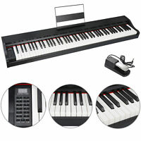 88 Key Electric Piano with Full Size Semi Weighted Keys Power Supply Speakers