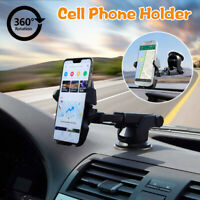 360° Car Windshield Mount Holder Bracket Cradle For iPhone Cell Phone Mobile GPS