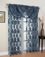 Milawi Organza Sheer Voile Window Curtain Treatments - Assorted Colors
