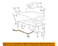 FORD OEM Hood-Latch Lock Release Cable 6W1Z16916A