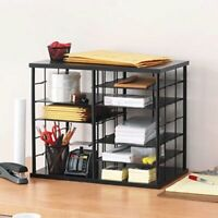 Rubbermaid 12-Slot Desktop Organizer, Black (RUB1738583)
