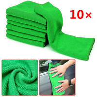 10 Pcs Microfiber Washcloth Auto Car Care Cleaning Towels Soft Cloths Green nEW