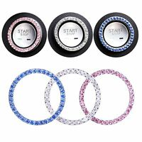 3 Pack Car Bling Ring Interior Crystal Car Accessories Decoration Gift for Women