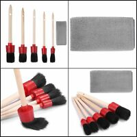 NEW Detailing Brush Set Car Cleaning Kit for Weels Interior and Exterior Leather