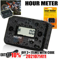 Waterproof Digital Hour Meter Sport Motorcycle ATV Snowmobile Marine Dirt Bike