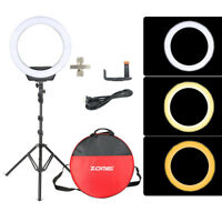 Zomei 16'' LED SMD Dimmable 5600K Ring Light  with Stand For Camera Makeup Phone