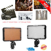 Compact LED Video Light Two Filters for Canon Nikon Pentax JVC DSLR DV Camcorder