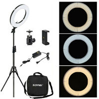 14'' Ring Light Kit with Stand SMD LED Dimmable 5500K for Makeup Camera Phone