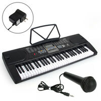 Electric Piano Music Digital Electronic Keyboard 61 Key Organ with Music Stand