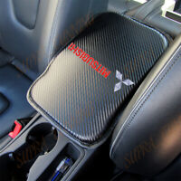 x1 For MITSUBISHI Carbon Fiber Car Center Console Armrest Cushion Mat Pad Cover