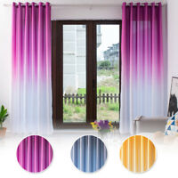 Eyelet Ring Top Gradient Windows Balcony Living Room Curtains Drapes Supplies