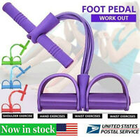 4 Tubes Fitness Sit Up Pull Multi-Function Tension Rope Home Sport Equipment