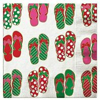 Christmas in July Themed Napkins, Party Supplies and Decorations, Pack of 2