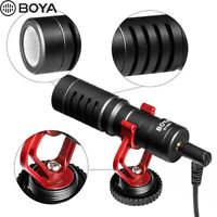 BOYA BY-MM1 Cardioid Shotgun Microphone 3.5mm  for DSLR Camera Iphone Camcorder