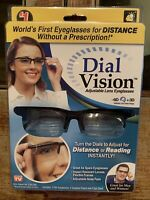 Dial Vision Adjustable Lens Eyeglasses Distance Or Reading Unisex As Seen On TV