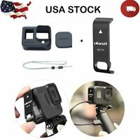 Protective Case+Removable Battery Lid Door Cover For GoPro Hero8 Black Camera US