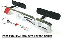 Toyota TRD Red Silver Metal Badge Grill Grille Emblem 2-4 days delivery time!