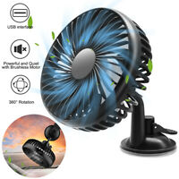 12V Car Fan Portable USB Vehicle Truck 360° Rotatable Auto Cooling Cooler Fan US