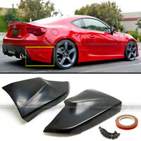Fit 13-20 FRS BRZ 86 F/A Style PU Rear Bumper Lip Spoiler Cap Splitter Add On