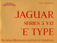 XKE JAGUAR E-TYPE MANUAL OWNERS BOOK V12 HANDBOOK 1971-1975