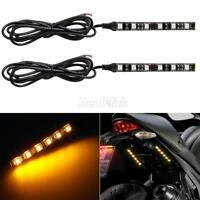 2pc Turn signal taillight Amber 6 LED Blinker Lights Strip for Yamaha Motorcycle