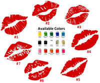 Kiss Marks Vinyl Decal Sticker Car Window Wall Laptop Iphone Lips Tags Love Art