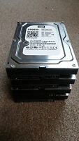 LOT OF 4 Western Digital Blue 500GB Desktop Hard Drives 7200RPM WD5000AAKX READ