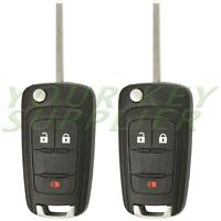 2 New Replacement 3 Button Keyless Remote Flip Key OHT01060512