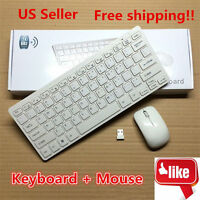 2.4G DPI Wireless Keyboard and Optical Mouse Combo for Laptop White
