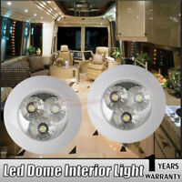 2X 12V 3W Interior RV Marine LED Recessed Ceiling Lights RV Roof Kitchen light