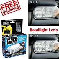 Headlight Lens Restorer Kit Car Truck Cleaner Light UV Protection Cleaning Wipes