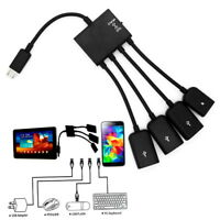 4 Port Micro USB Power Charging OTG Hub Cable For Android Tablet Smartphone IZ