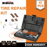 X-BULL 57pc Tire Repair Kit DIY Flat For Car Truck Motorcycle Home Plug Patch