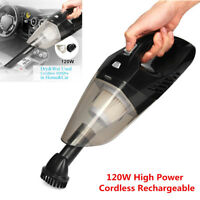 Portable Rechargeable 120W High Power Cordless Dry & Wet Car Home Vacuum Cleaner