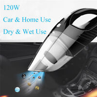 120W High Power Cordless Rechargeable Dry & Wet Portable Car Home Vacuum Cleaner