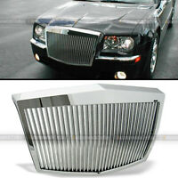 Fit 05-10 300 300C Chrome Finish Rolls Royce Vertical Phantom Style Grill Grille