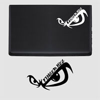 Laptop Aufkleber Finger weg Notebook Tattoo