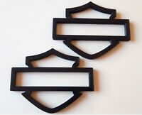 Harley Davidson Emblems, 2 pcs, Black