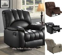 Recliner Home Furnishing Comfort Leather Fabric Living Room Furniture Home Decor