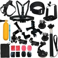 Accessories Kit Mount for Gopro Go pro Hero 7 6 5 4 Session Black Outdoor Camera