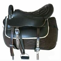 Saddle Small Short Horse Equestrian Supplies   black