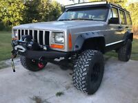 Black Friday Sale !!!   FRONT WINCH STEEL BUMPER for JEEP CHEROKEE XJ MJ
